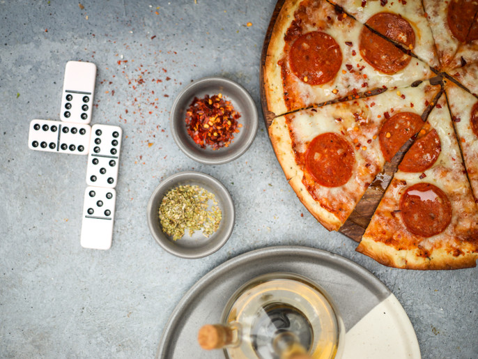 Pizza + Dominoes