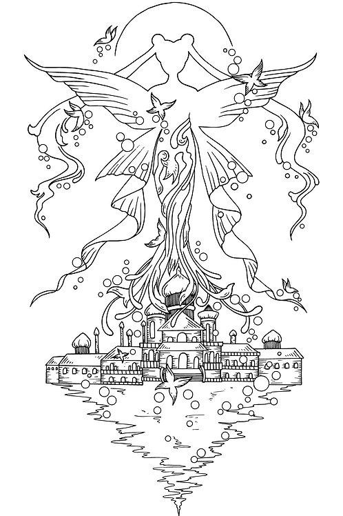 Millenium Castle Colouring Page