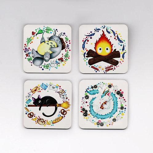 Ghibli Coaster Set