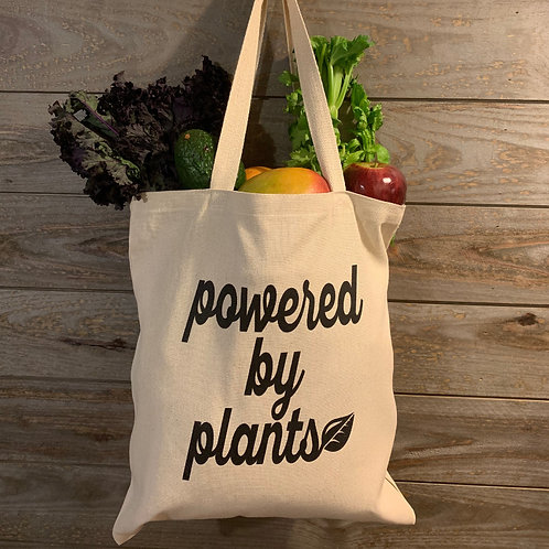 """""""Powered by plants"""" tote"""