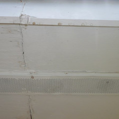 Notice water marks on soffit and fascia board, these are roof leaks.