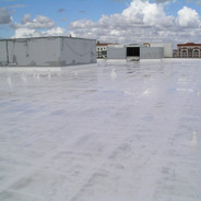 Roof Coated With White Elastomeric System