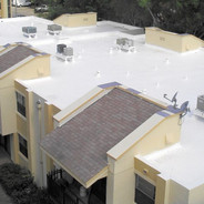 White Reinforced Roof Coating System.
