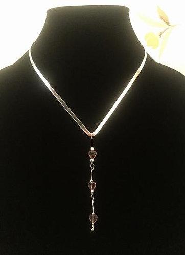 One-of-a-Kind Purple Hearts Silver Chocker w/Gregg Allman's String