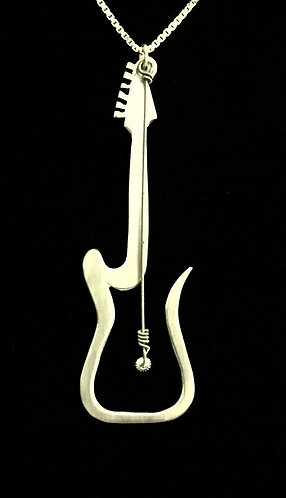 Jeff Beck Hand-Crafted Guitar Silhouette w/ Crossroads String