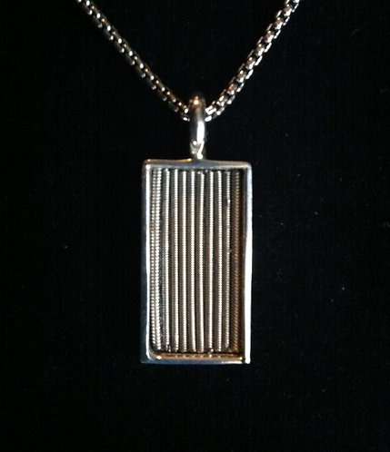 Warren Haynes Strings Silver Pendant