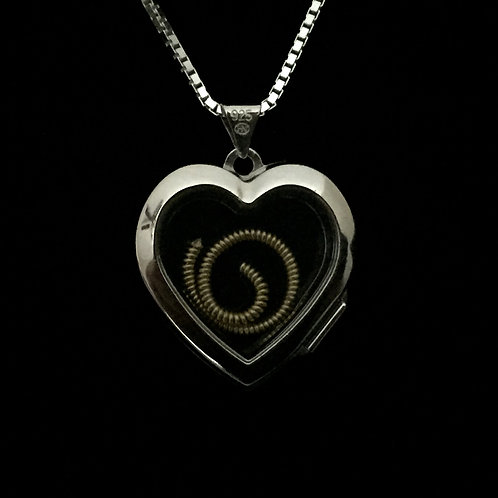 "Silver Locket w/Gregg Allman Played ""Melissa"" Guitar String"