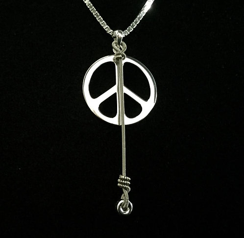 Susan Tedeschi String & Sterling Silver Peace Sign