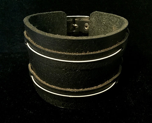 Buddy Guy and Quinn Sullivan's played guitar strings leather bracelet for guys and gals