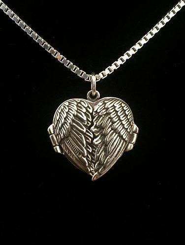 Silver Wings Locket w/Gregg Allman's String