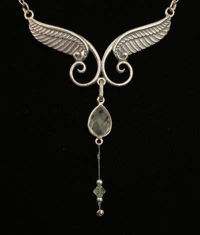 One-of-a-Kind Silver Wings w/Gregg Allman's String & Crystals