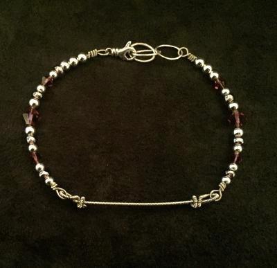 One-of-a-Kind Amethyst Crystals & Beads Gregg Allman Bracelet