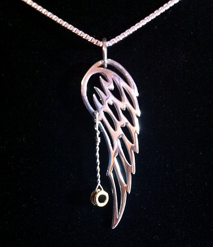 Gregg Allman's Played Guitar String & Sterling Silver Wing