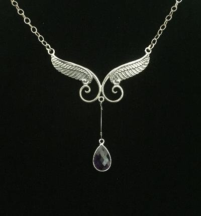 One-of-a-Kind Large Sterling Silver Wings w/Gregg Allman's String