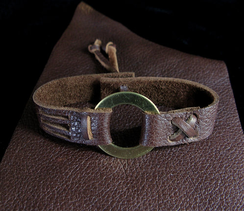Duane Allman Inspired Leather & Brass Bracelet