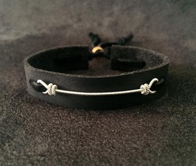 Oteil Burbridge's played bass string leather bracelet for guys and gals Allman Brothers Band