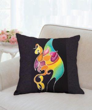 """18"""" Pillow of Duane Allman Gryphon Shirt Design B"""