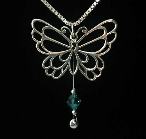 Sonny Landreth Guitar String Butterfly Necklace