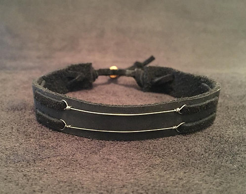 Susan Tedeschi and Derek Trucks'  played guitar strings leather bracelet for guys and gals, Tedeschi Trucks Band