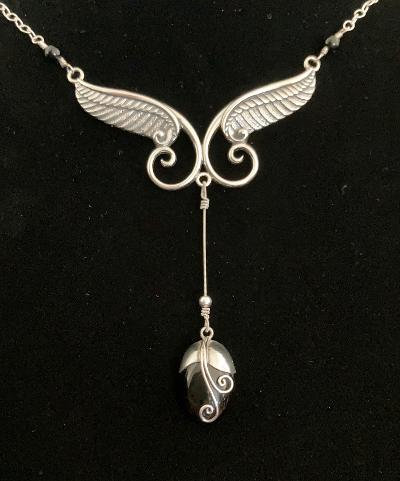 1-of-a-Kind: Gregg Allman String, Onyx and Sterling Silver Wings