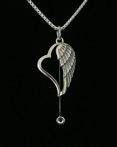 Sterling Silver Heartwing Necklace w/Gregg Allman's Played String