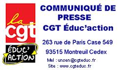 La CGT Éduc'action quitte le Grenelle de l'Éducation