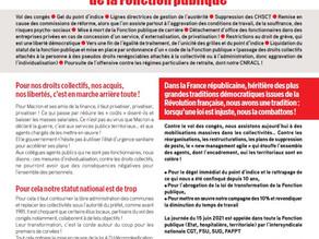 """Journée de grève pour l'abrogation de la loi dite de """"transformation de la fonction publique"""""""