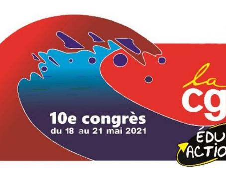 Appel du Xe congrès de la CGT Éduc'action du 21 mai 2021