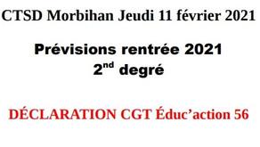 CTSD Morbihan du 11 février 2021