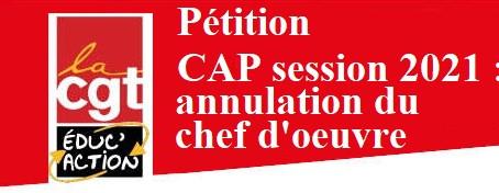 La CGT Éduc'action considère que la mise en place du dispositif chef-d'œuvre est un échec