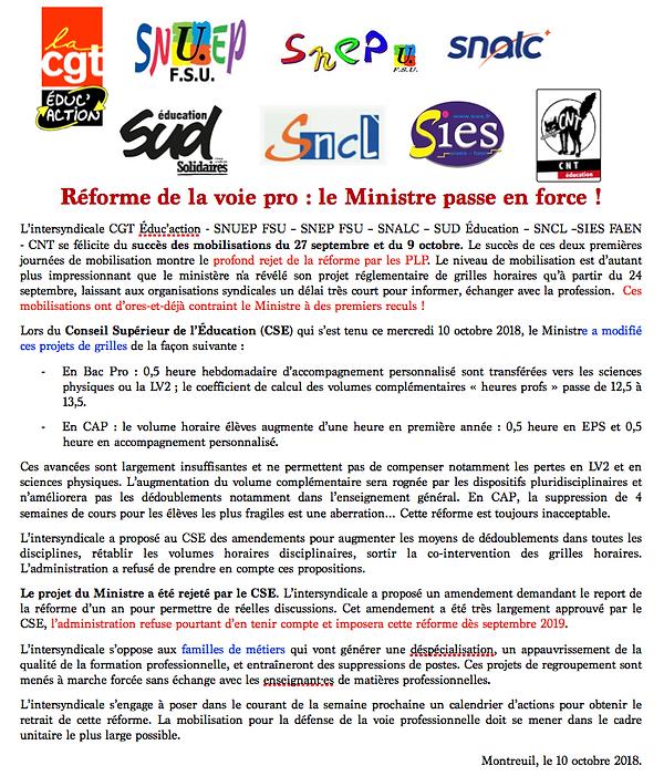 DÉCLARATIÀON_INTERSYNDICALE_Voir_Pro-11_