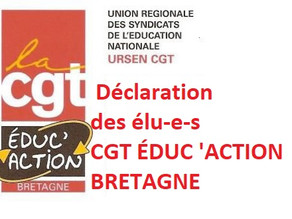 Déclaration CGT Educ'action Bretagne CAPA PLP du 17 MAI 2021