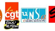 Déclaration commune FSU, SGEN-CFDT, CGT, UNSA, SUD et FCPE