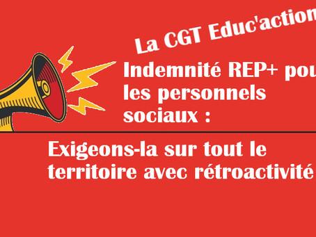 Indemnité REP+ pour les personnels sociaux : exigeons-la sur tout le territoire avec rétroactivité