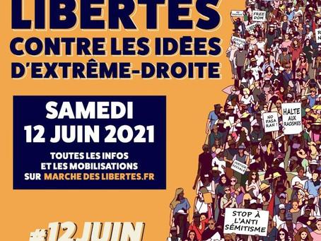 Marche pour les libertés et contre les idées d'extrême droite
