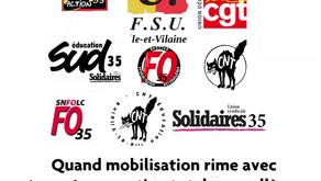 Quand mobilisation rime avec répression : soutien total aux collègues de Monfort-sur-Meu !