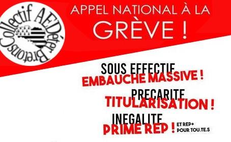 AED : appel national à la grève le 1er décembre 2020
