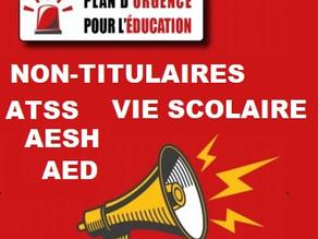 POUR DES POSTES STATUTAIRESPOUR LA FIN DE LA PRÉCARITÉ