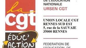 Déclaration de la CGT ÉDUC'ACTION BRETAGNE au CTA de Rennes du 19 janvier 2021