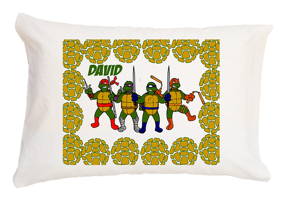 Ninja Turtles w/Custom Name Standard Pillowcase