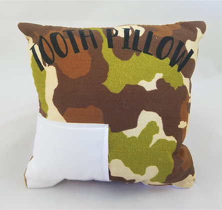 Camo Tooth Pillow
