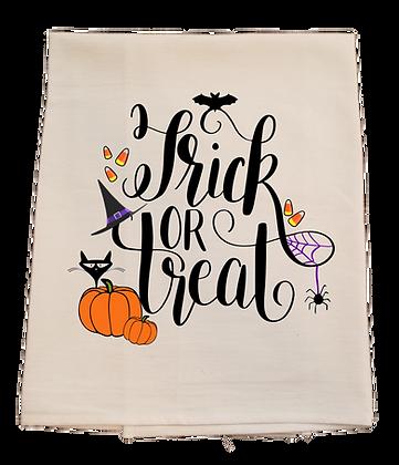 Trick or Treat Tea Towel