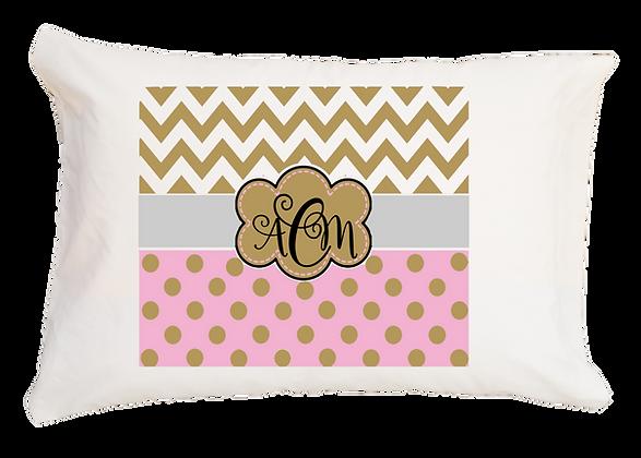Ezra Monogram w/Custom Name Travel Pillow