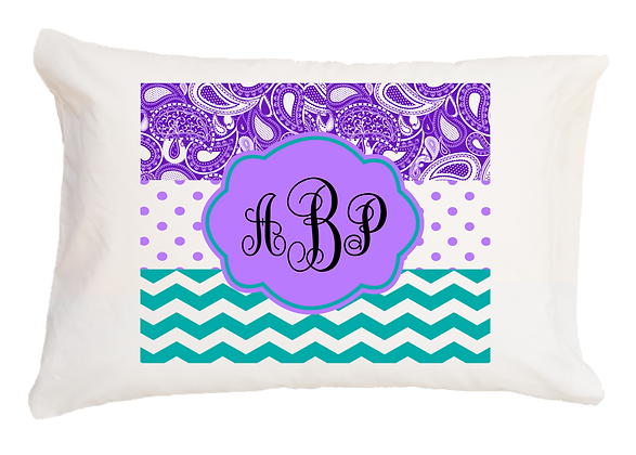 Amy Monogram Style w Custom Name Travel Pillow
