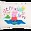 Thumbnail: Peppa Pig w/Custom Name Standard Pillowcase