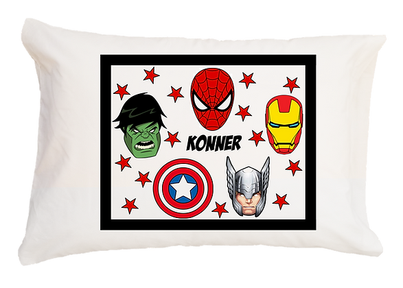Marvel w/Custom Name Standard Pillowcase