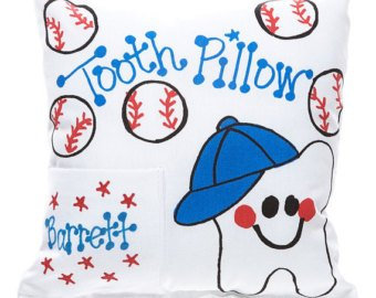 Baseball Tooth Pillow for Boys