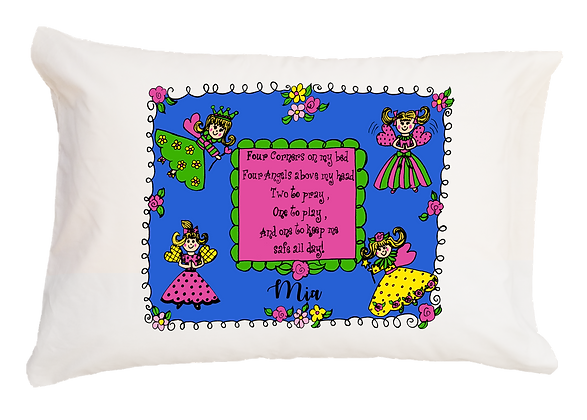 Angel Prayer w/Custom Name Standard Pillowcase