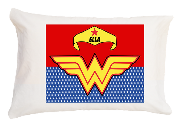 Wonder Woman w/Custom Name Travel Pillow