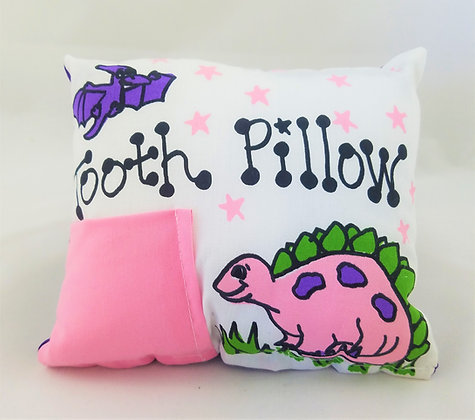 Pink Dinosaur Tooth Pillow